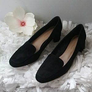 Banana Republic black suede heels